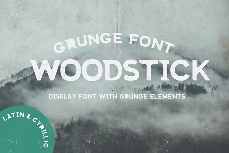 Grunge fonts Bundle example 1