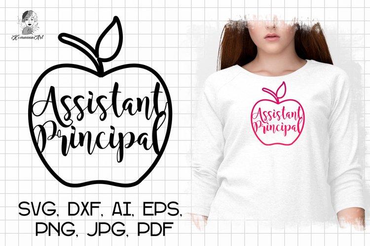 Assistant Principal SVG / Apple SVG/ School Svg