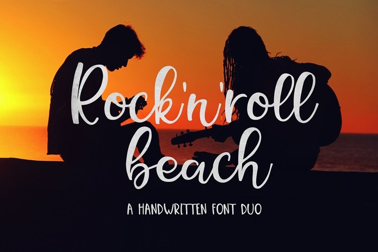 Web Font Rock N Roll Beach Font Duo example image 1