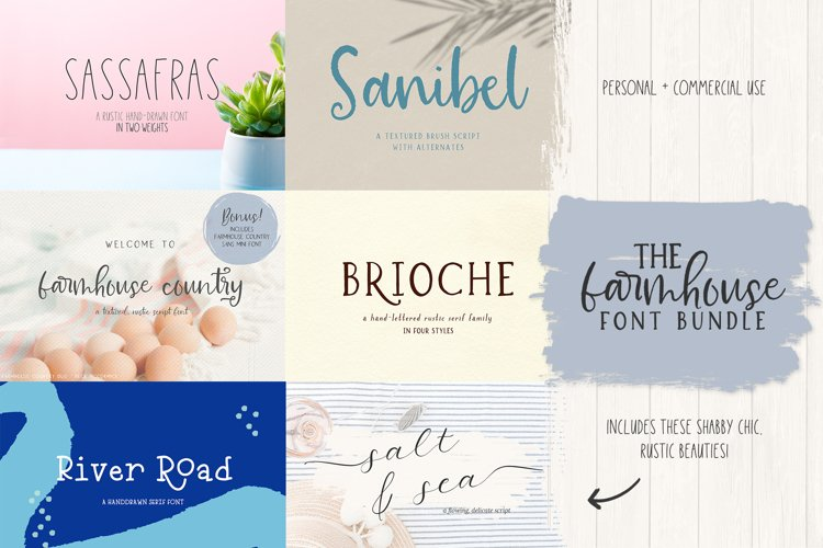 The Farmhouse Font Bundle by Beck McCormick example image 1