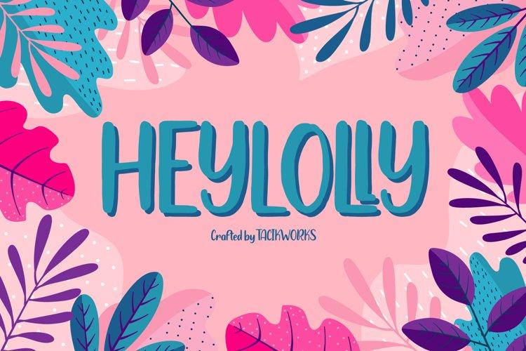 Heylolly Crafty Font