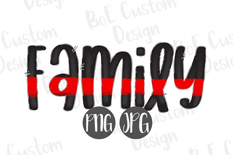 Thin Red Line Family Clipart example image 1