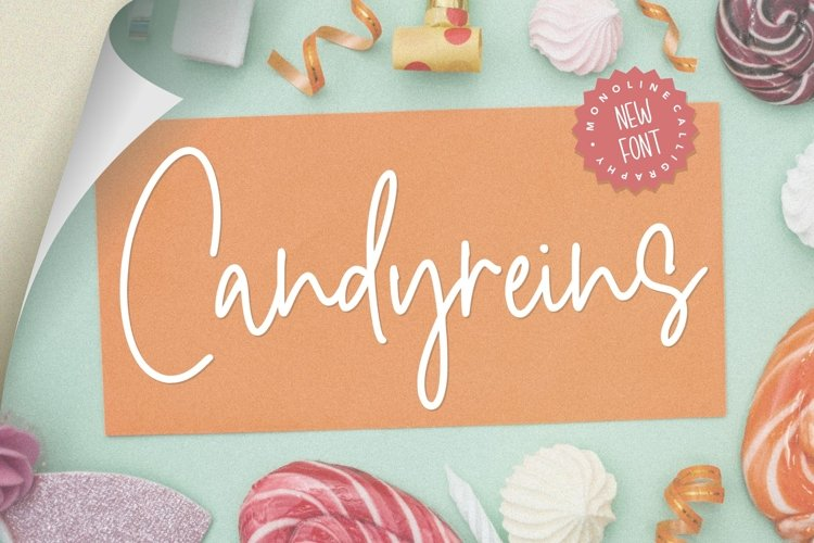 Candyreins Monoline Calligraphy Font example image 1