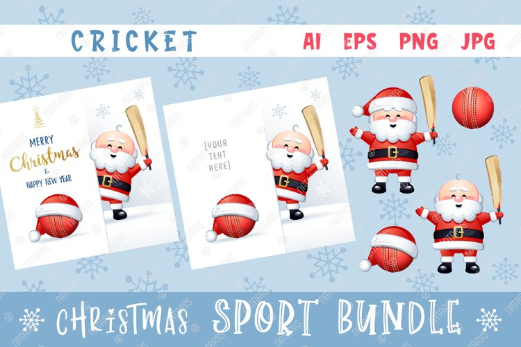 Merry Christmas and Happy New Year. Cricket. example image 1