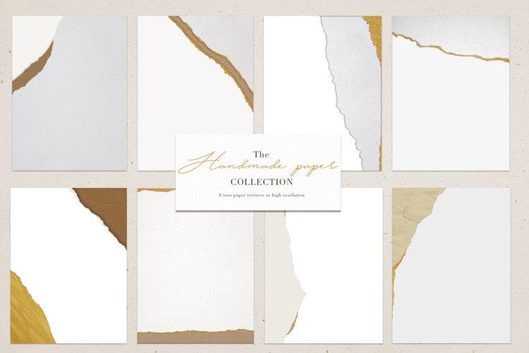 Torn vintage paper textures