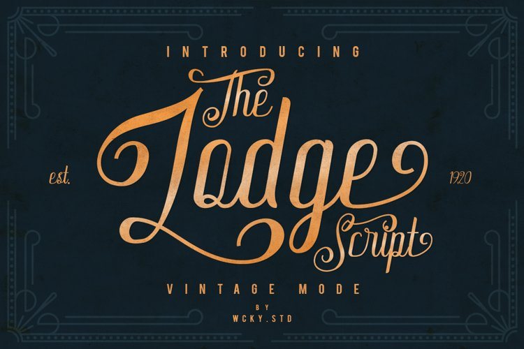 The Lodge Script 30% OFF example image 1