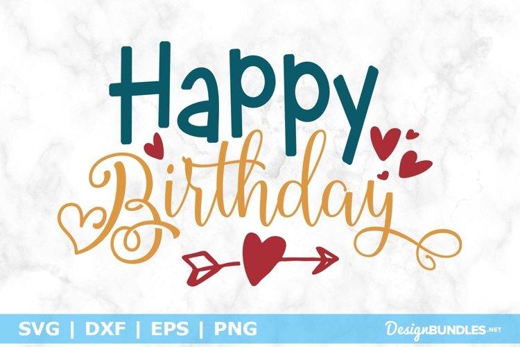 Happy Birthday SVG File
