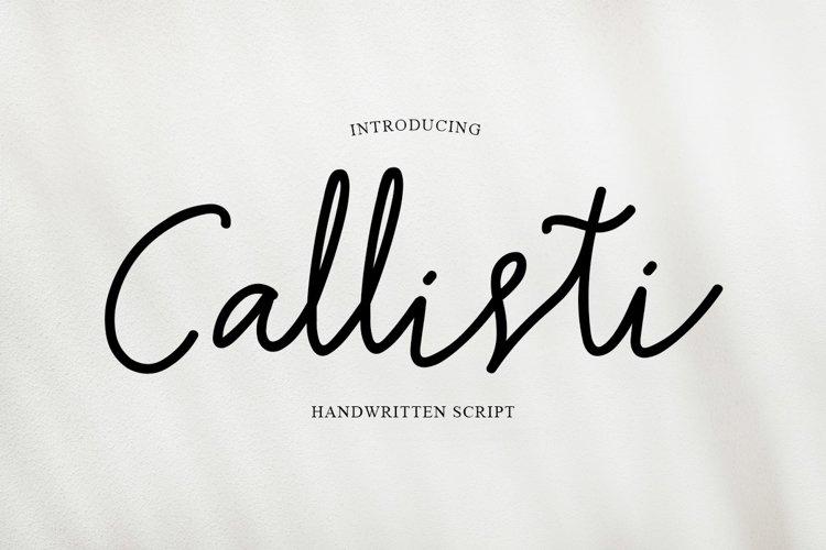 Callisti - Handwriting Script example image 1