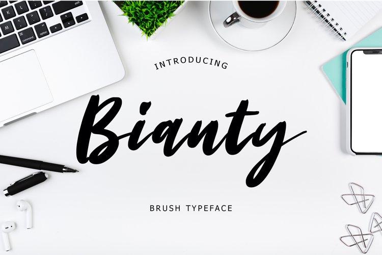 Bianty Brush Typeface example image 1