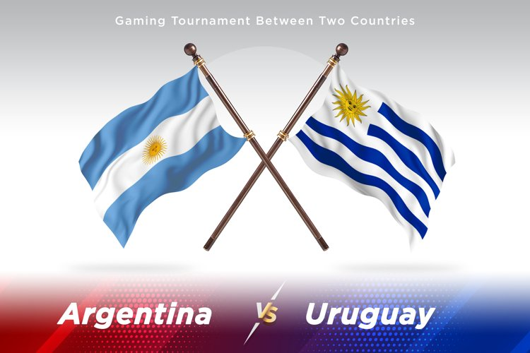 Argentina vs Uruguay Two Flags example image 1