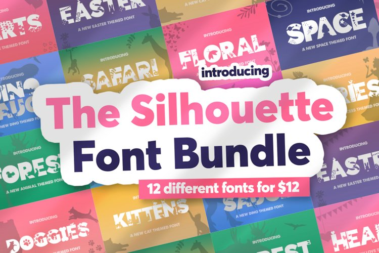 The Silhouette Font Bundle example image 1