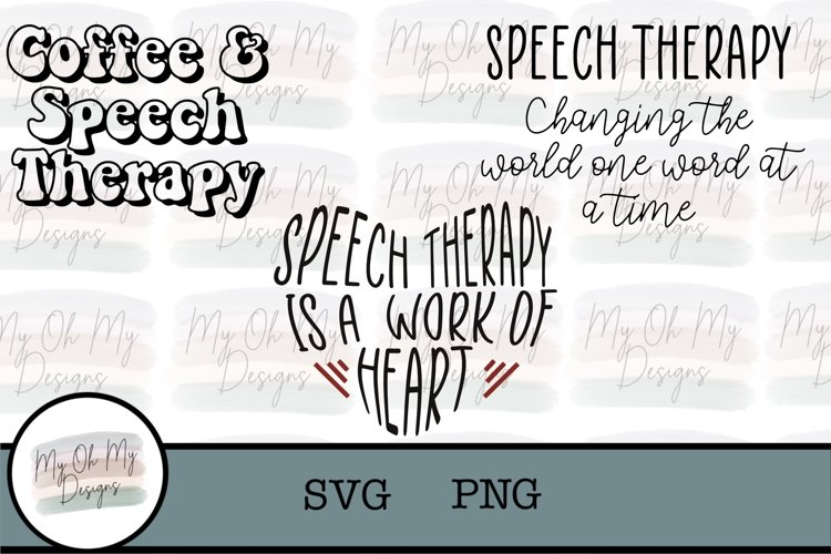 Speech Therapy - Speech Pathologist - SVG / PNG example image 1