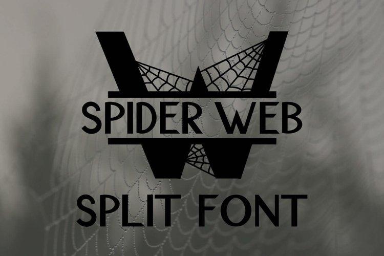 Spider Web Split Font - A Monogram Font example image 1