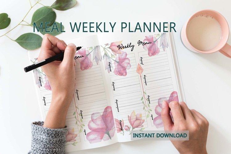 Meal planner printable Weekly meal planners PDF