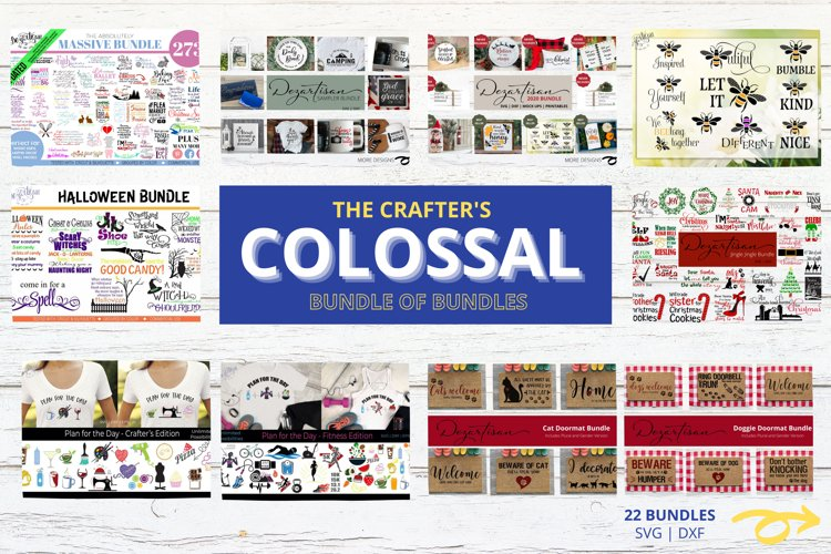 The Crafters Colossal Bundle of 22 SVG Bundles example image 1