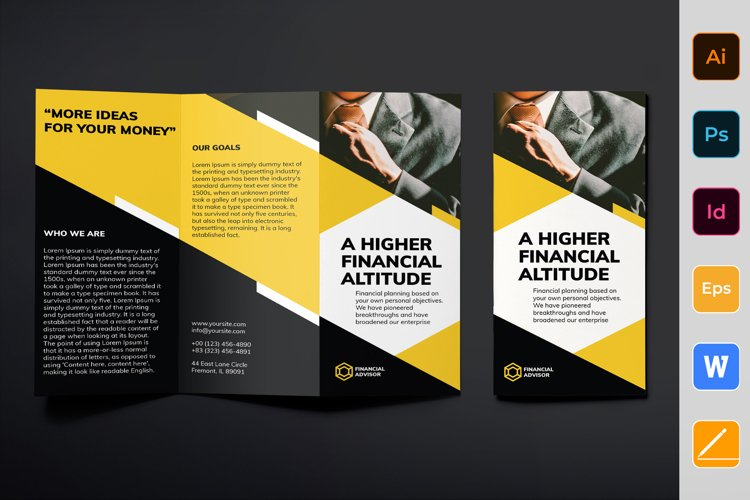 Financial Advisor Brochure Trifold example image 1