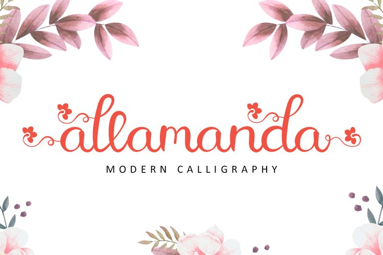 Allamanda - Modern Calligraphy example image 1