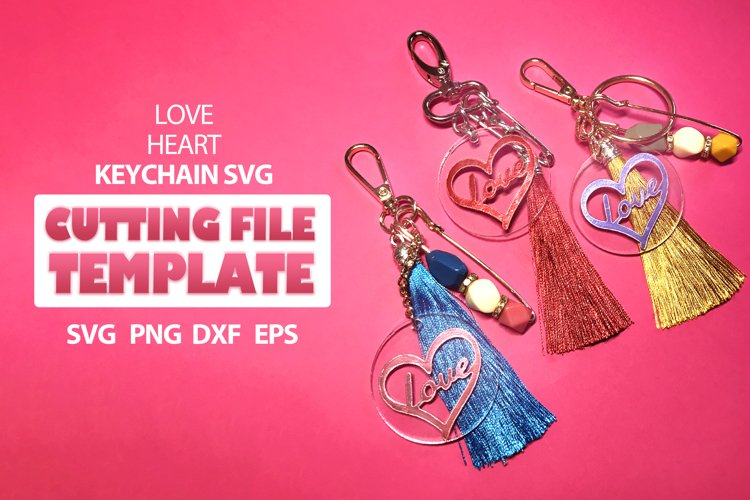 Keychain love patterns svg, Love svg, key fob svg, keychain