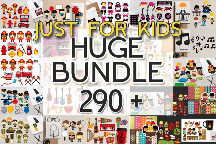 Kids clip art - Graphics and Illustrations Huge Bundle