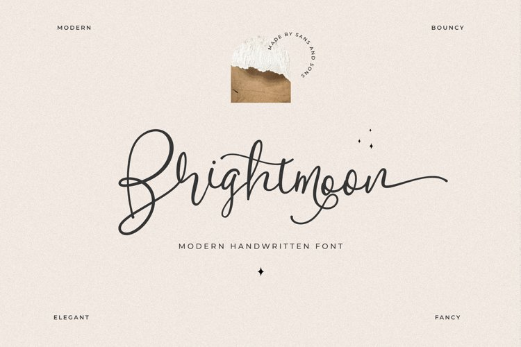 Brightmoon - Modern Calligraphy example image 1