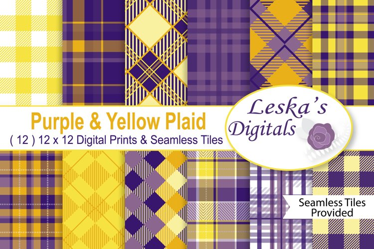 Plaid Digital Paper Pack example image 1