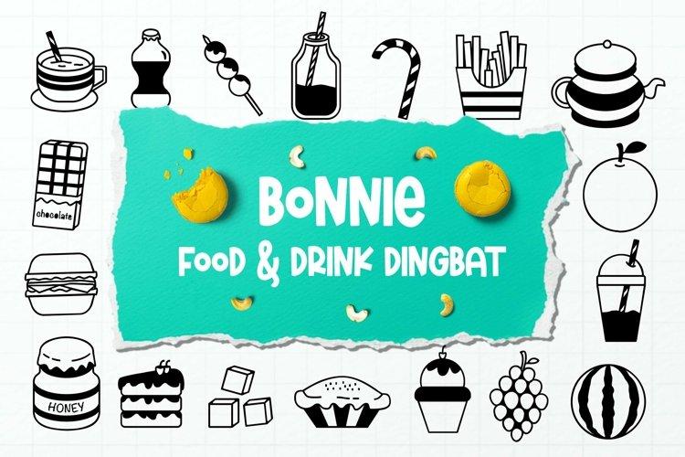 Web Font Bonnie Dingbats Font example image 1