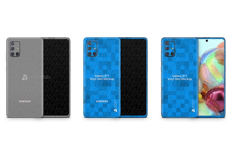 Galaxy A71 2019 PSD Skin Mockup Template example image 1