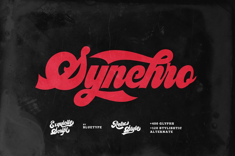 Synchro - Retro Bold Script example image 1
