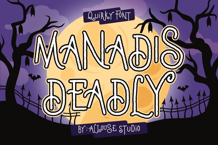 Web Font - Manadis Deadly - Quirky Font example image 1
