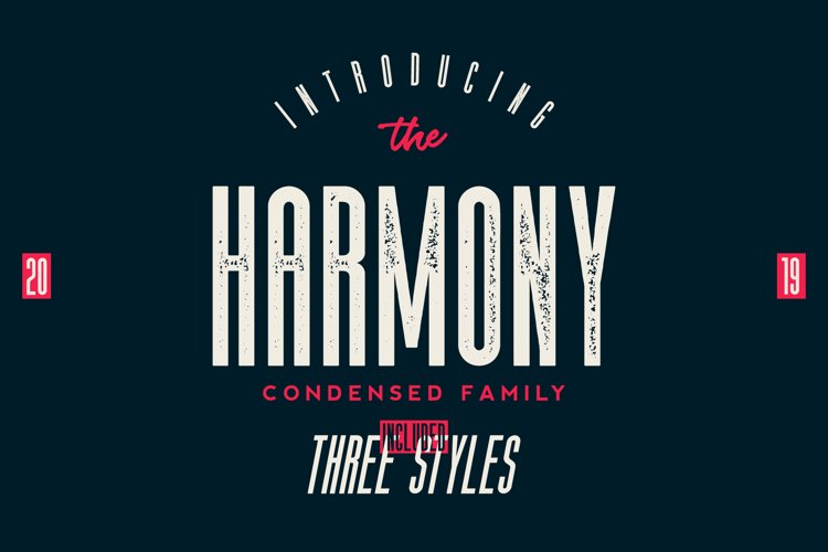 The Harmony - Condensed font family example image 1