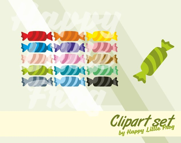 Candy clipart set, candy graphic design, candy print sweets clipart, candy digital print, wrapped candy clipart, printable candy example image 1