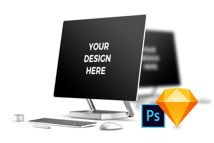 3x Microsoft Surface Studio Mockups