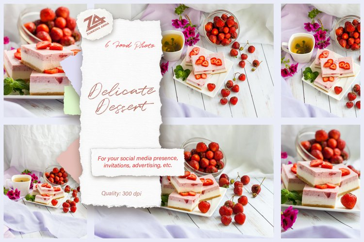 """A bundle of 6 high resolution food photo """"Delicate dessert"""" example image 1"""