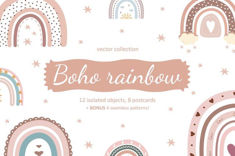 Boho rainbow vector bundle example image 1