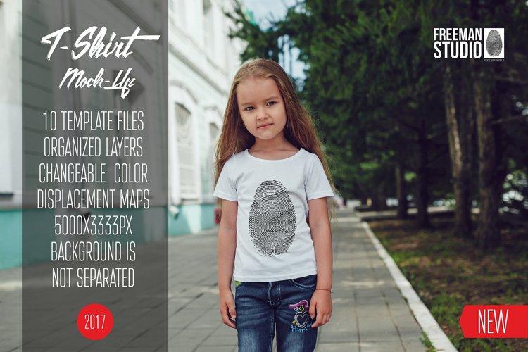 Kids T-Shirt Mock-Up Vol 8 2017 example image 1