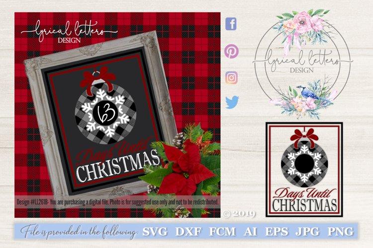 Buffalo Plaid Christmas Countdown SVG DXF FCM LL261B example image 1