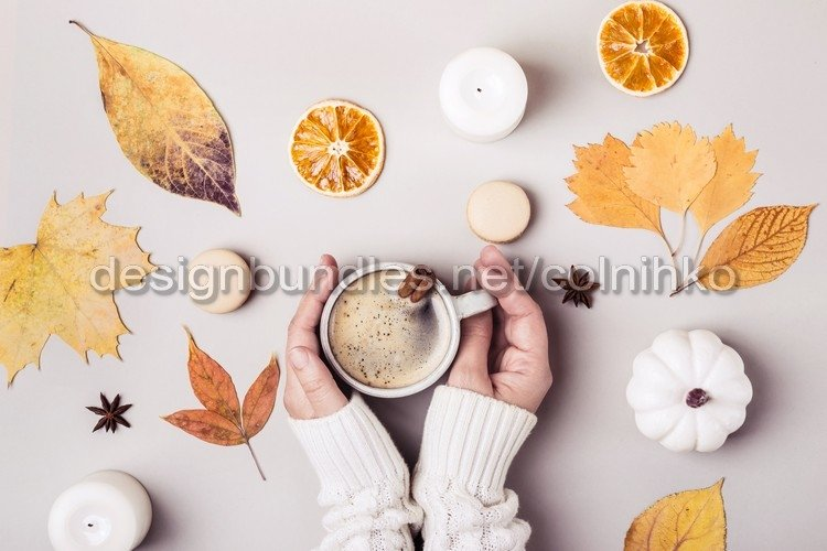 Female hands with cup of coffee example image 1