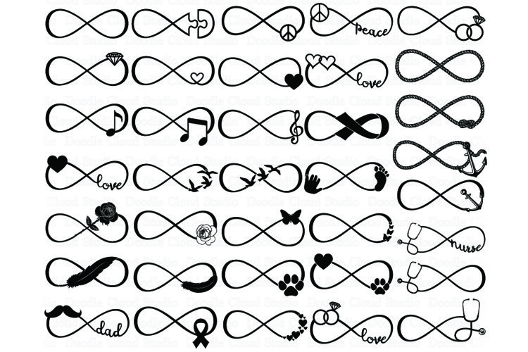 36 Infinity Bundle SVG Files. Infinity Symbols.