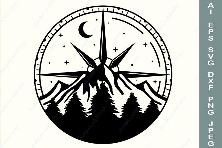 Compass svg, Travel shirt svg, Outdoor svg, Explore svg