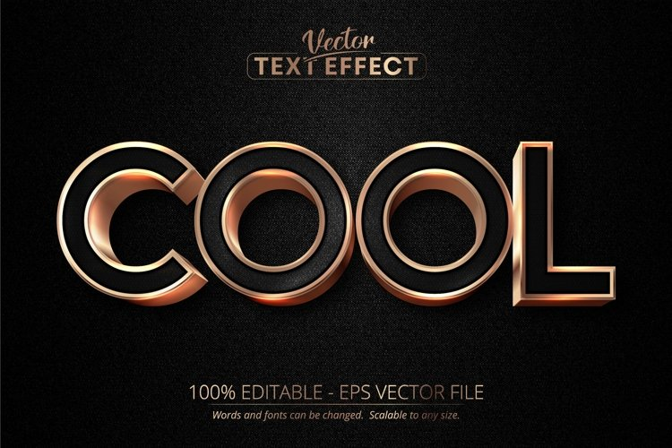Cool text, luxury rose gold editable text effect example image 1