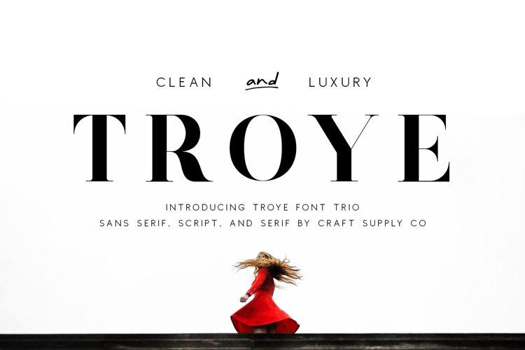 Troye Font Trio example image 1