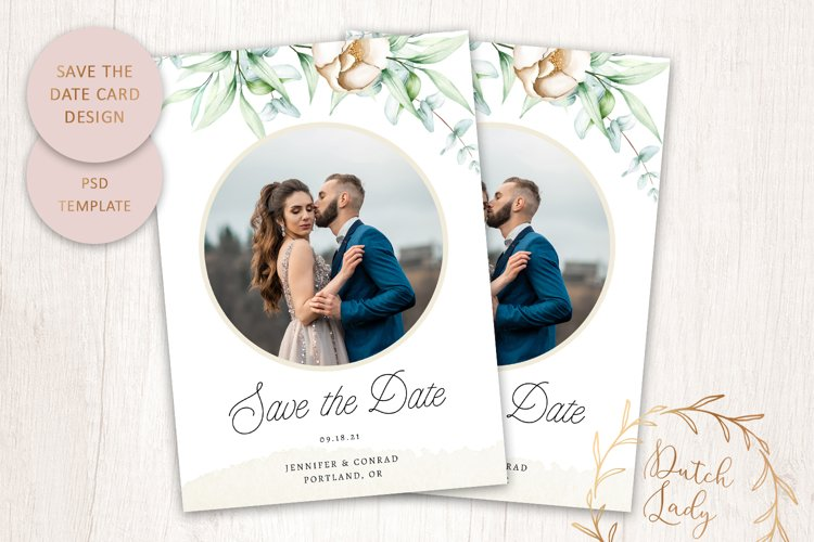 PSD Save The Date Photo Card Template - Single Sided - #2