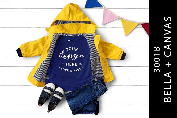 Kids True Royal Bella Canvas 3001B T-Shirt Mockup Fashion example image 1