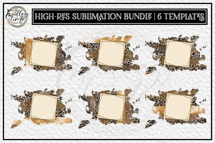 Leopard Sublimation Bundle |6 Gold Sublimation Templates