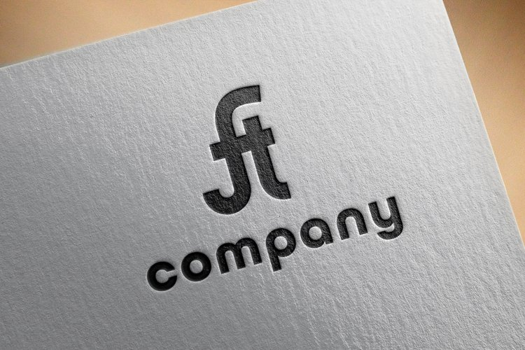 the initials design of the letters F and t