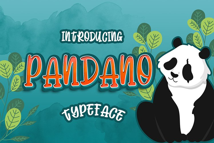 Pandano Typeface display font example image 1