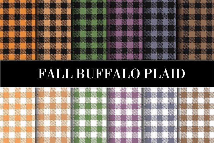Fall buffalo plaid, textures. digital paper example image 1