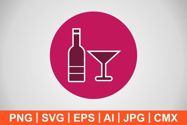 Vector Wine Icon example image 1