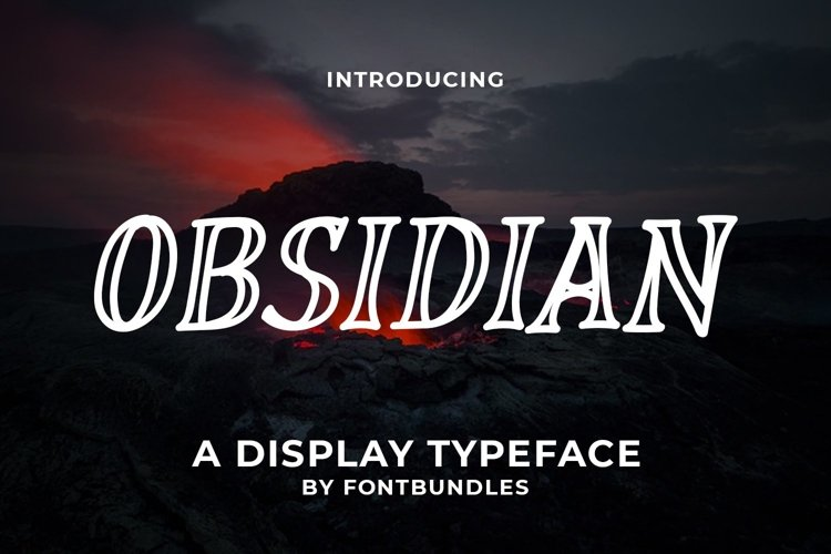 Web Font Obsidian example image 1