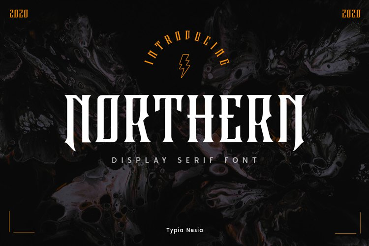 Northern - Decorative Display Serif example image 1